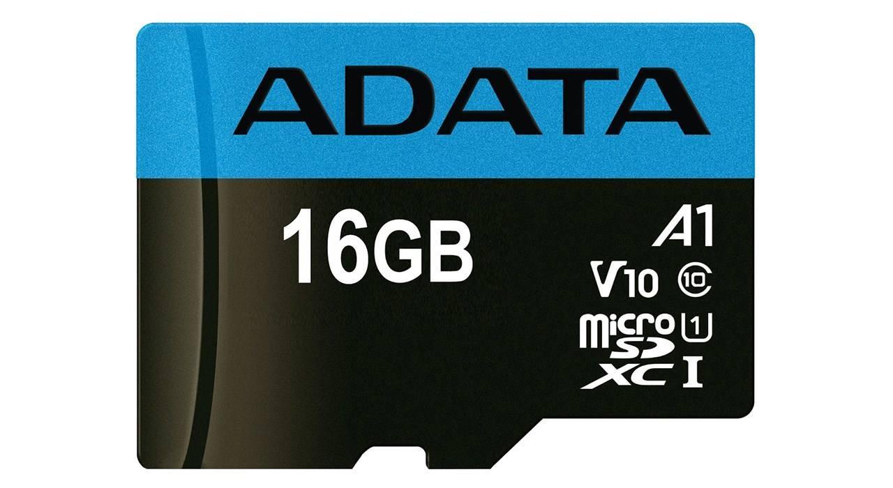 کارت حافظه microSDHC ای دیتا مدل Premier V10 A1 کلاس ۱۰ استاندارد UHS-I سرعت ۱۰۰MBps ظرفیت ۱۶ گیگابایت