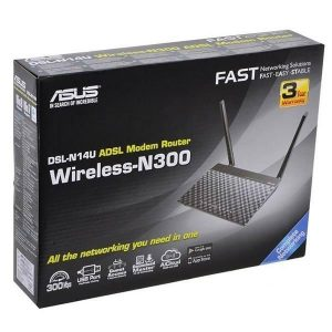 مودم روتر ADSL2 Plus بی سیم N300 ایسوس مدل DSL-N14U-b1